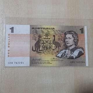 1965 Australia 1 Dollar Banknote
