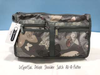 LeSportSac Deluxe Shoulder Satch All-A-Flutter (Authentic)