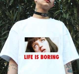 Life is boring Oversized Shirt (Aesthetic Japanese/Korean)