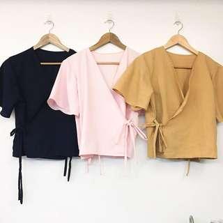 luna wrap top // trendy apparel