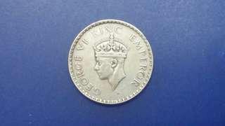 喬治六世1941年印度銀 1盧比