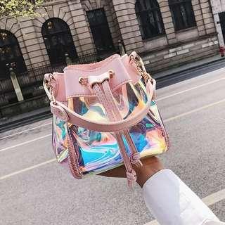 [PO] Pink Holographic Sling bag
