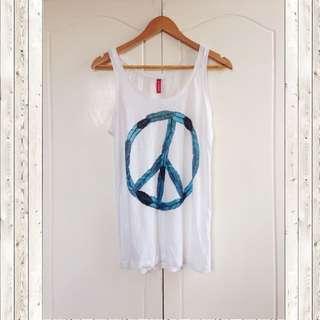 H&M divided white sleeveless
