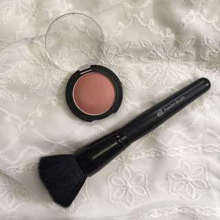 Elf powder blush & maybelline blush on