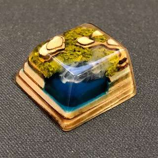 Jelly Key Cyan Lake Artisan Keycap