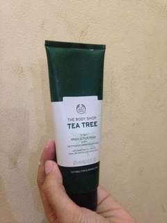 The body shop tee tree wash scrub mask