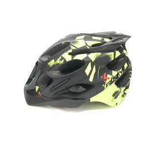 KARRY Outdoor Bike Bicycle Riding Helmet for cyclists/scooter users (Black with Green)