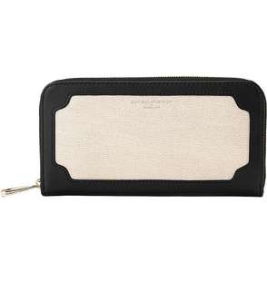 Aspinal of London Marylebone saffiano and smooth leather wallet