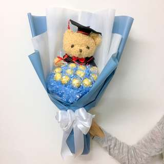 Graduation Teddy Bear Bouquet-Graduation Chocolate Bouquet-Graduation Doraemon