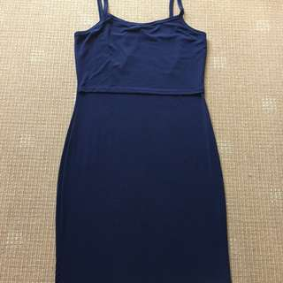 Breastfeeding/Maternity navy blue dress