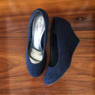 SALE! Navy Blue Wedge