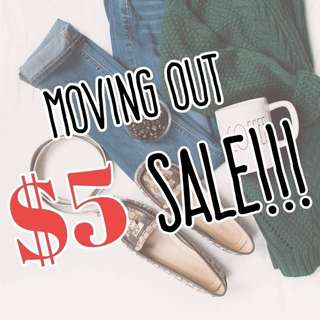 $5 Moving Out Sale!