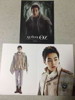 EXO Xiumin School OZ hologram musical official postcard set