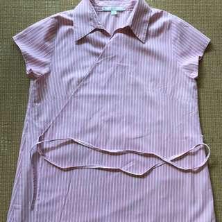 Gingersnaps rose pink wraparound blouse