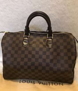 Authentic Louis Vuitton Speedy 35 damier
