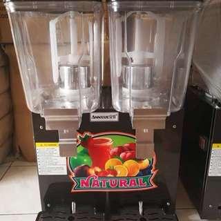 Double juice dispenser machine