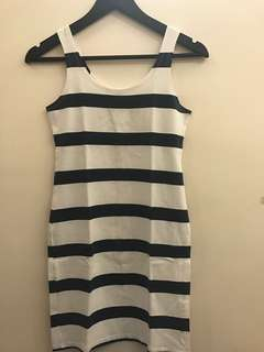 H&M stripes cotton dress