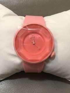 全新粉紅色果凍手錶