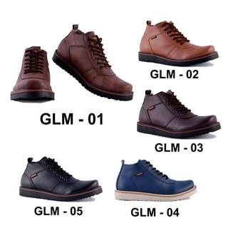 Sepatu Boots Kulit sintetis Pria