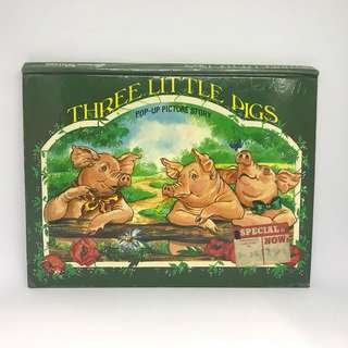 Three Little Pigs Pop Up Picture Story