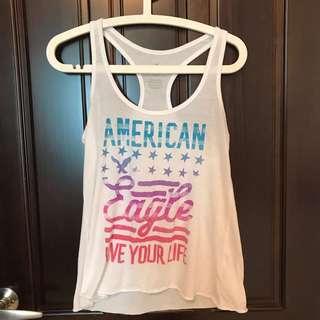 🚚 美國AE (American Eagle)9成新棉質背心 只外出穿過2次 實品超美舒服的 商品無瑕疵  Size: XS(適合S M)  胸41Cm 長60Cm