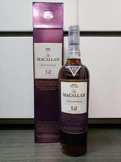 Macallan Gran Reserva 麥卡倫 紫鑽 12年 Whisky 威士忌