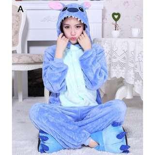 Kostum tidur cosplay pajama piyama Stitch