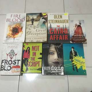 english young adult / fantasy / mystery novels / books