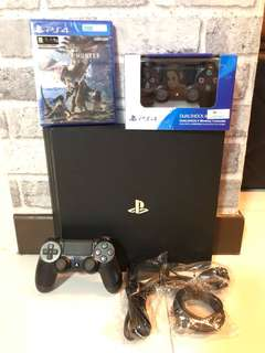 Used PS4 Pro With Monster Hunter World