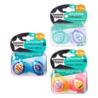 Tommee Tippee 6-18m Anytime Soothers