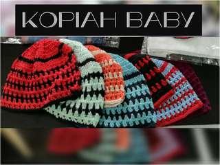 Knitted beanie kopiah baby