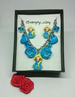 Set of Character Bracelet and Earrings
