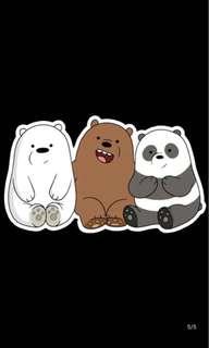 We bare bear sticker