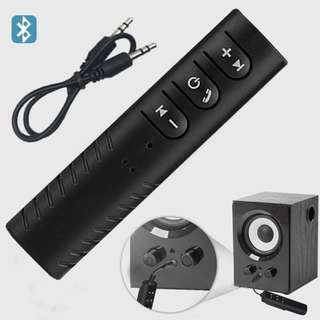 New Bluetooth Wireless Audio Music Receiver 3.5mm Car Aux Home Theatre with Charging Cable