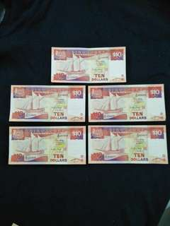 Singapore Old Notes 5pc offer 68