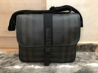 Burberry Smoked Checks Messenger Bag