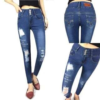 3BUTTONS DENIM SKINNY JEANS