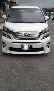 SAMBUNG BAYAR/CONTINUE LOAN  TOYOTA VELLFIRE Z 2.4 YEAR 2012/2017 MONTHLY RM 2700 BALANCE 6 YEARS ROADTAX DEC 2018 7 SEATER POWER DOORS POWER BOOT TIPTOP CONDITION  DP KLIK wasap.my/60133524312/vellfire