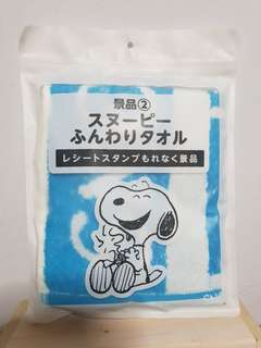 Snoopy face towel from Japan