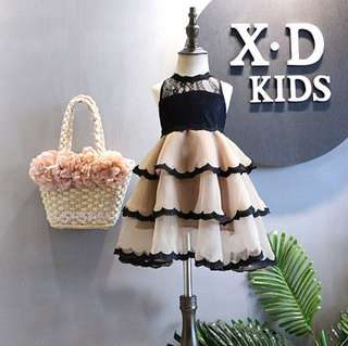 Girl lace vest dresses