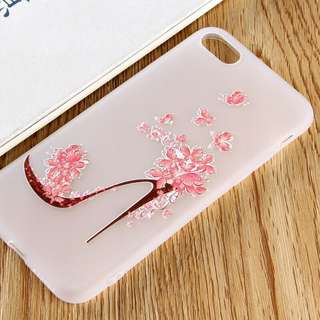 Lady Floral High Heels Case for iPhone 5/5s/5se  6/6s 6s plus 7, 7+, 8, 8+,