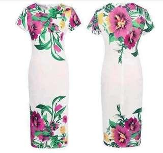 #006 🌷u.s floral dress  (3 Colors)