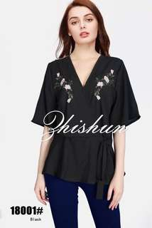 EMBROIDERED TOPS 18001#