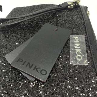 100% new PINKO black clutch 晚裝袋