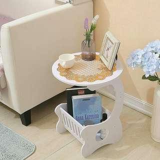 SMALL ROUND COFFEE TABLE MEJA KOPI BULAT SAMPING MULTIFUNGSI