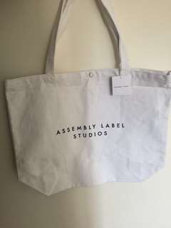 Assembly Label Studios Tote Bag White