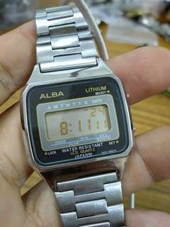 Vintage Alba Japan digital watch