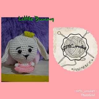 Crochet Little Bunny Keychain