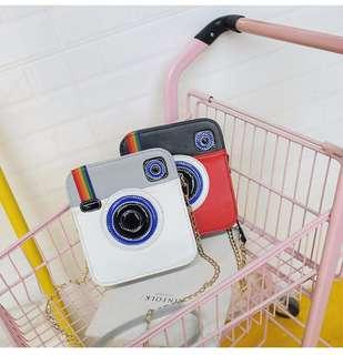 全新韓款相機圖案包(單肩包如圖)$58