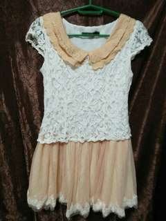 korean style dress lace